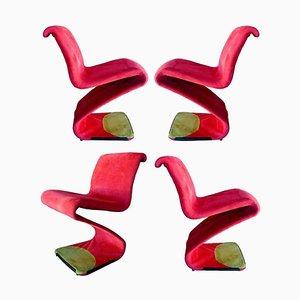 Model Z Chairs by Gastone Rinaldi, 1970s, Set of 4