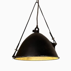 Italian Mid-Century Modern Industrial Pendant Lamp with Aluminium Lampshade, 1970s