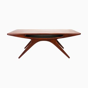 The Smile Coffee Table in Teak by Johannes Andersen for CFC Silkeborg, 1960s