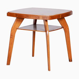 Kleiner Buchenholz Tisch, 1950er