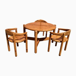 Table and 3 Chairs by Rainer Daumiller, Denmark, 1960s, Set of 4