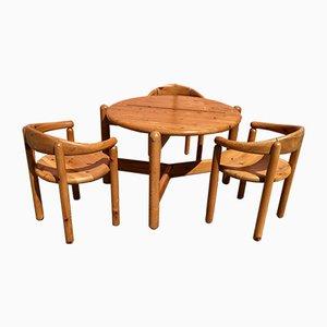 Table et 3 Chaises par Rainer Daumiller, Danemark, 1960s, Set de 4