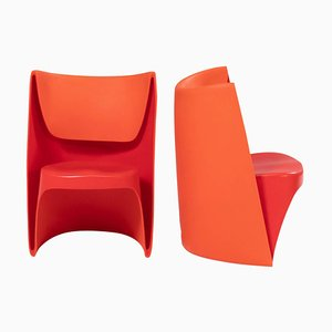Nona Rota Orange Chairs by Ron Arad for Cappellini, Set of 2