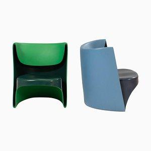 Nona Rota Stühle in Blau & Grün von Ron Arad für Cappellini, 2er Set