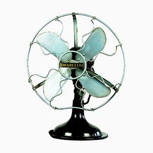 Vintage Industrial Art Deco Table Fan from Marelli, Italy
