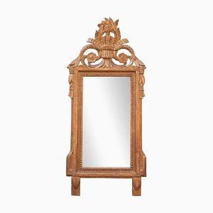 Regency Stil Spiegel mit Rahmen aus handgeschnitztem & vergoldetem Holz, 1970er