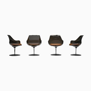 Champagne Chairs by Erwine & Estelle for Laverne International, 1959, Set of 4