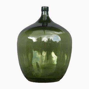 Antiker deutscher Demijohn aus grünem Waldglas