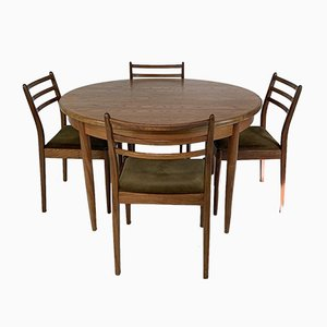 Mid-Century Extendable Dining Table and Chairs from G-Plan