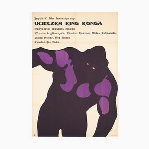 Polish A1 Movie Poster for King Kong Escapes with Linen Backing by Mosinski, 1968