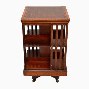 Antikes drehbares edwardianisches Bücherregal