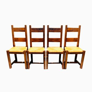 Brutalist Chairs, Set of 4