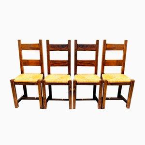 Brutalistische Stühle, 4er Set