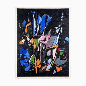 André Lanskoy, Abstract Composition, Framed Lithograph on Arches Paper, 1965