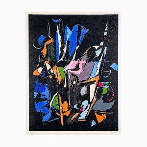 André Lanskoy, Abstrakte Komposition, Gerahmte Lithografie auf Arches Papier, 1965