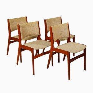 Modell 89 Esszimmerstühle aus Teak von Erik Buch für Anderstrup, 4er Set