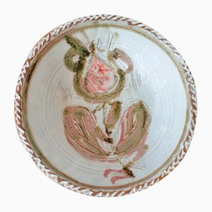 Chamotte Clay Bowl by Albert Thiry for Vallauris
