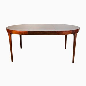 Danish Extendable Dining Table in Rio Rosewood by Ib Kofod Larsen for Faarup Mobelfabrik