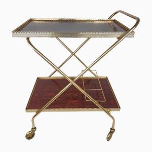 Vintage Brass Bar Cart or Trolley, 1950s