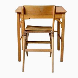 Silla y escritorio infantil de Baumann. Juego de 2