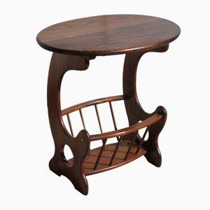 Solid Chestnut Pedestal Table, 1980s