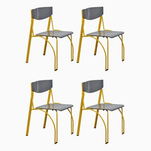 Postmodern Danish Stackable Dining Chairs, Set of 4