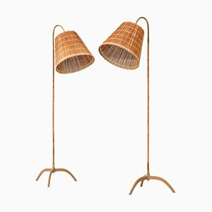 Model 9609 Floor Lamps by Paavo Tynell for Sky Oy, Finland, Set of 2