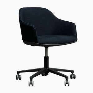 Vitra Softshell Chair with Black Upholstery