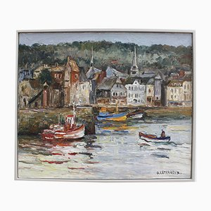 The Port of Honfleur by Gervais Leterreux, 1993