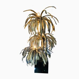 French Palm Tree Lamp by Maison Jansen, 1970s
