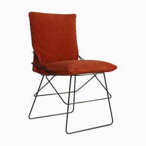 SOF SOF Orangefarbener Metallstuhl von Enzo Mari für Driade