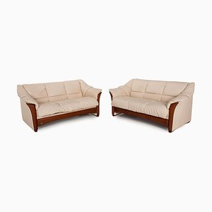 Oslo Leather Sofa Set from Stressless, Set of 2