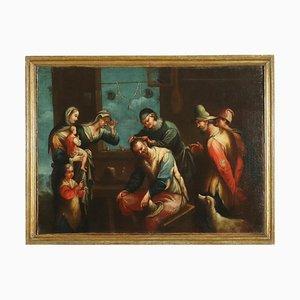 Scena di Genere dal Barbiere, Oil on Canvas