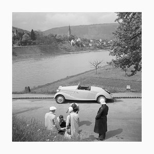 To Neckargemuend Mercedes Benz Car Near Heidelberg, Germany 1936, Printed 2021