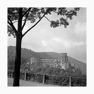 Grosse Scheffelterrasse Terrace to Castle, Heidelberg Germany 1938, Printed 2021