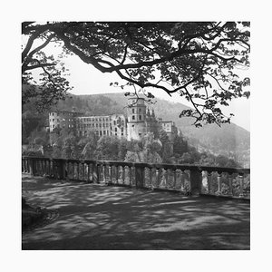 View to the Heidelberg Castle, Germany 1938, Printed 2021