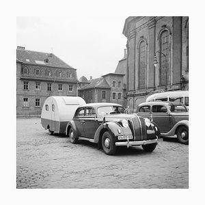 Car, Trailer at Heiligeistkriche Church Heidelberg, Germany 1938, Printed 2021