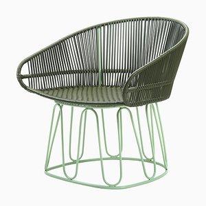 Olivgrüner Circo Sessel von Sebastian Herkner