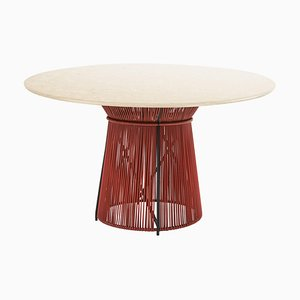 Marble Top Caribe Chic Dining Table by Sebastian Herkner