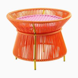 Orange Rose Caribe Basket Table by Sebastian Herkner