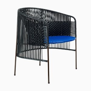 Black Caribe Lounge Chair by Sebastian Herkner