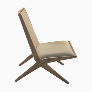 Walnut Kaya Lounge Chair by LK Edition