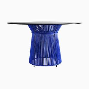 Blue Caribe Dining Table by Sebastian Herkner