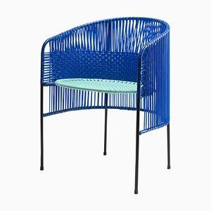 Blue Caribe Lounge Chair by Sebastian Herkner