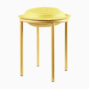 Yellow Cana Stool by Pauline Deltour