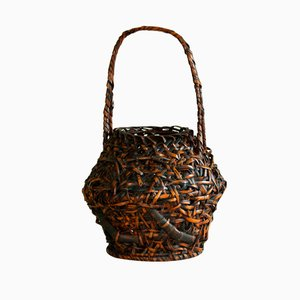 Hanakago Ikebana Basket with Handle, 1920s