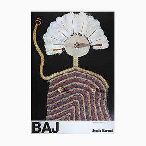 Enrico Baj, Exhibition Poster, Vintage Offset Print, 1975