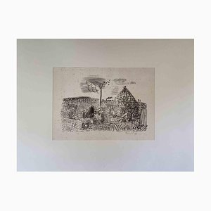 Raoul Dufy, Landschaft, Original Lithographie, frühes 20. Jh