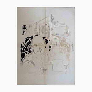 Litografia Raoul Dufy, L'autoritratto, anni '40
