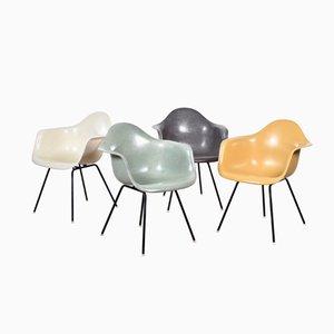 Sillas de comedor DAX de Charles y Ray Eames para Herman Miller. Juego de 4